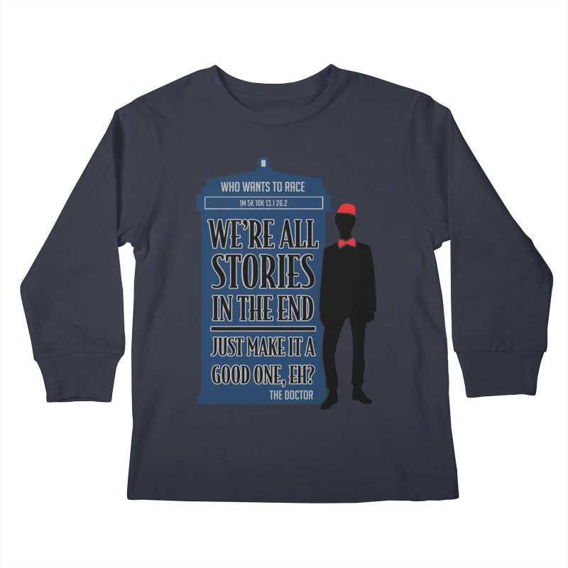 WHO Wants to Race Kids Longsleeve T-Shirt by Moon Joggers's Artist Shop