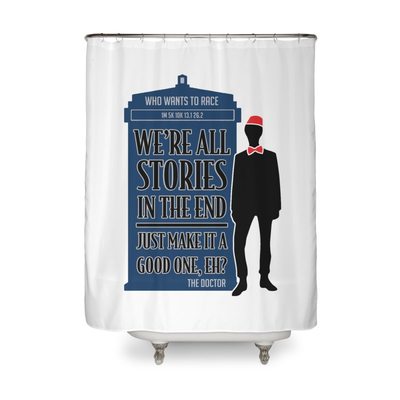 WHO Wants to Race Home Shower Curtain by Moon Joggers's Artist Shop