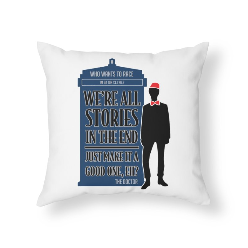 WHO Wants to Race Home Throw Pillow by Moon Joggers's Artist Shop