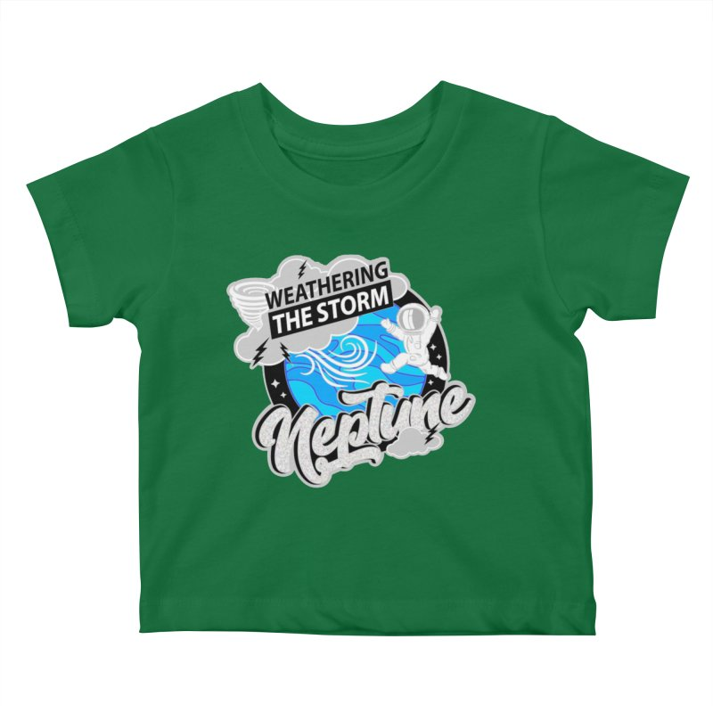 Neptune - Weathering the Storm Kids Baby T-Shirt by Moon Joggers's Artist Shop