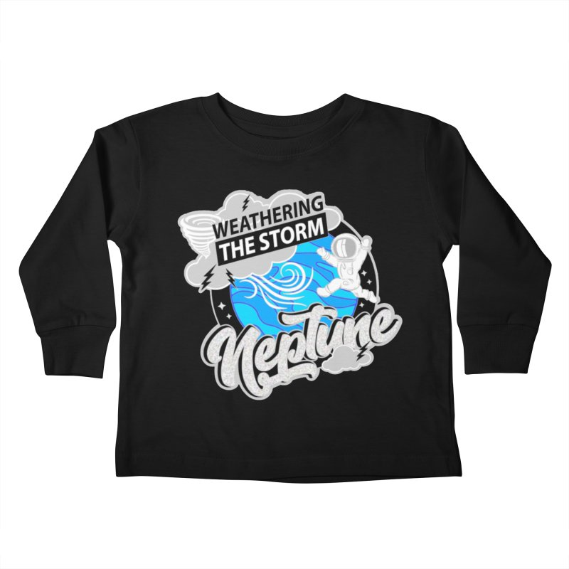 Neptune - Weathering the Storm Kids Toddler Longsleeve T-Shirt by Moon Joggers's Artist Shop