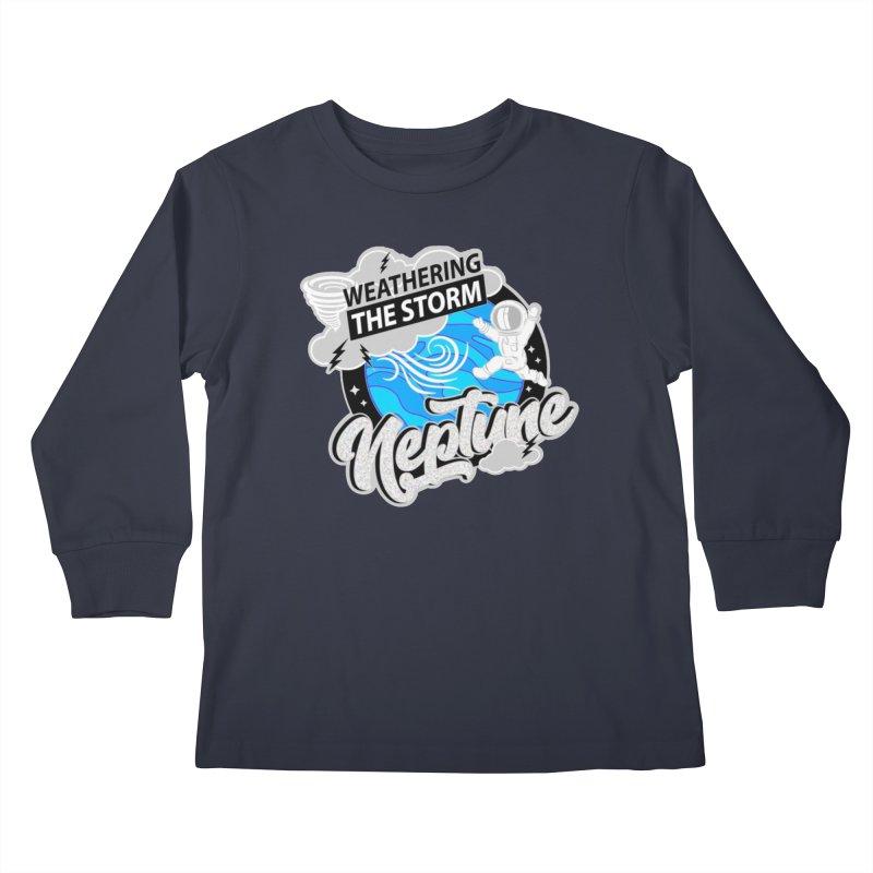 Neptune - Weathering the Storm Kids Longsleeve T-Shirt by Moon Joggers's Artist Shop
