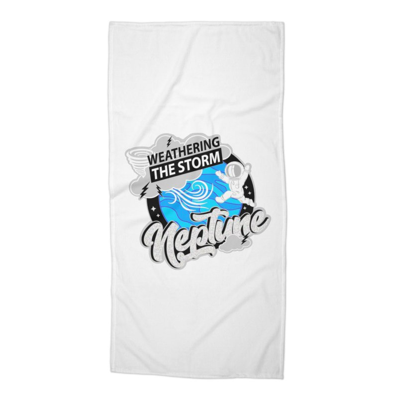 Neptune - Weathering the Storm Accessories Beach Towel by Moon Joggers's Artist Shop