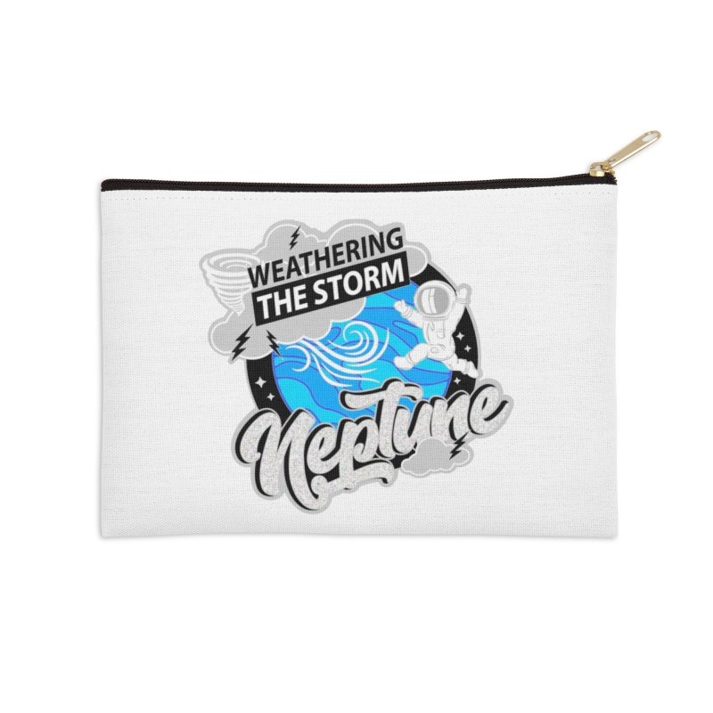 Neptune - Weathering the Storm Accessories Zip Pouch by Moon Joggers's Artist Shop
