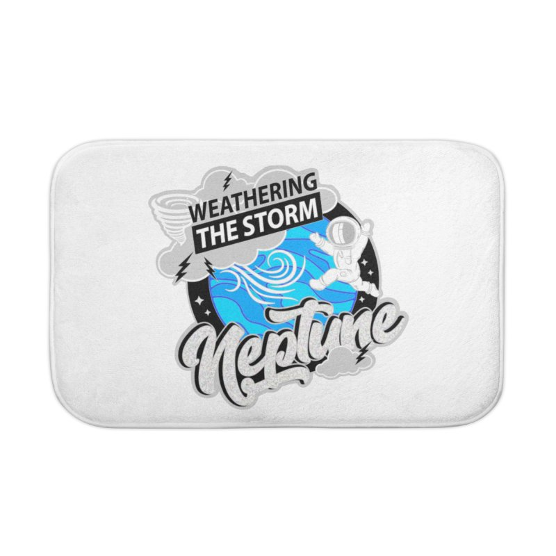 Neptune - Weathering the Storm Home Bath Mat by Moon Joggers's Artist Shop