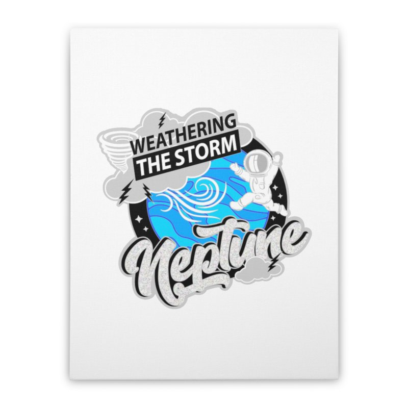 Neptune - Weathering the Storm Home Stretched Canvas by Moon Joggers's Artist Shop