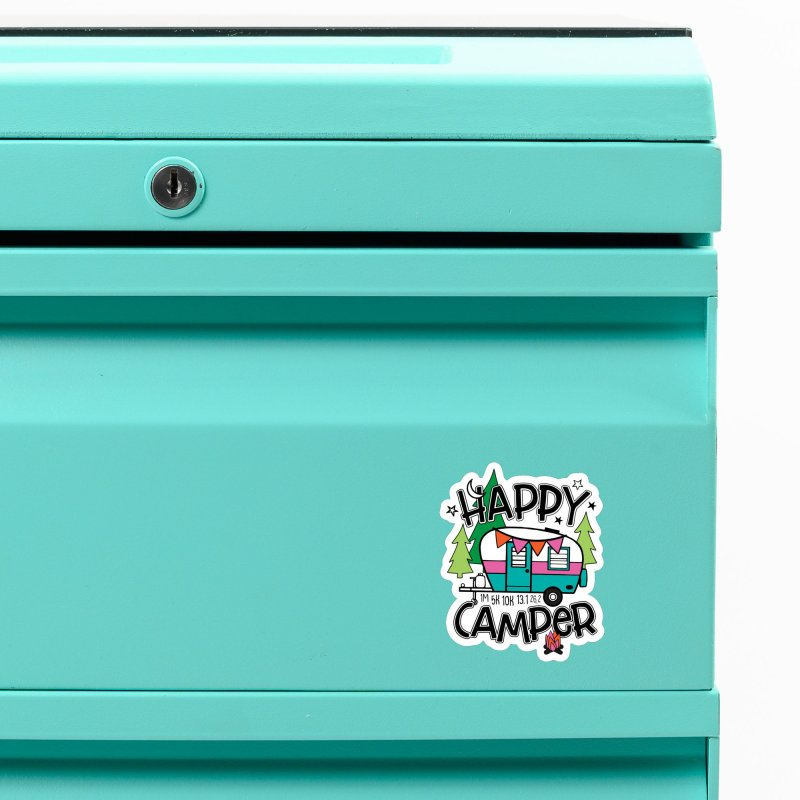 Happy Camper Accessories Magnet by Moon Joggers's Artist Shop