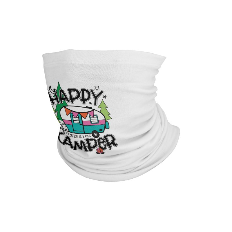 Happy Camper Accessories Neck Gaiter by Moon Joggers's Artist Shop