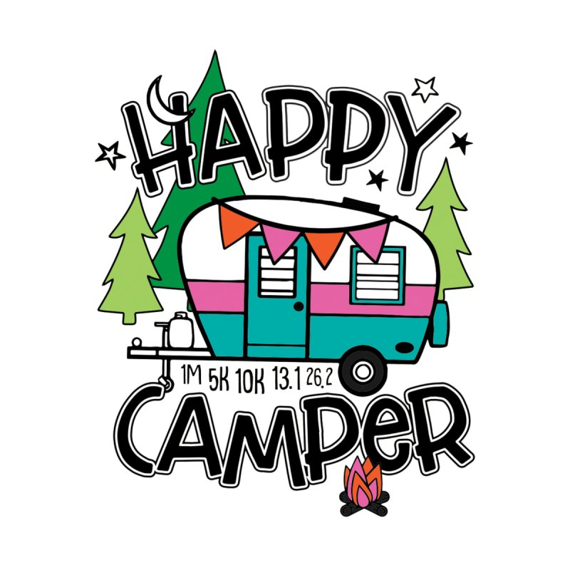 Happy Camper Accessories Beach Towel by Moon Joggers's Artist Shop