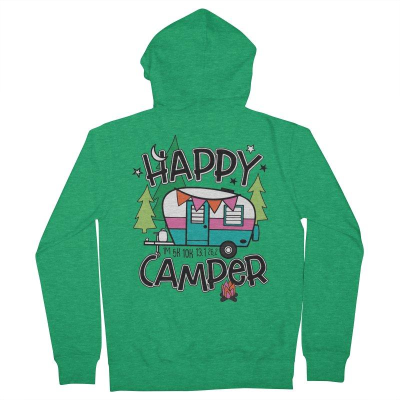 Happy Camper Women's Zip-Up Hoody by Moon Joggers's Artist Shop