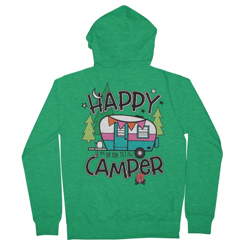 Happy Camper Men's Zip-Up Hoody by Moon Joggers's Artist Shop