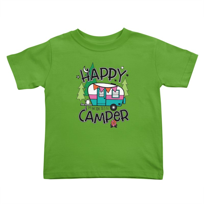 Happy Camper Kids Toddler T-Shirt by Moon Joggers's Artist Shop