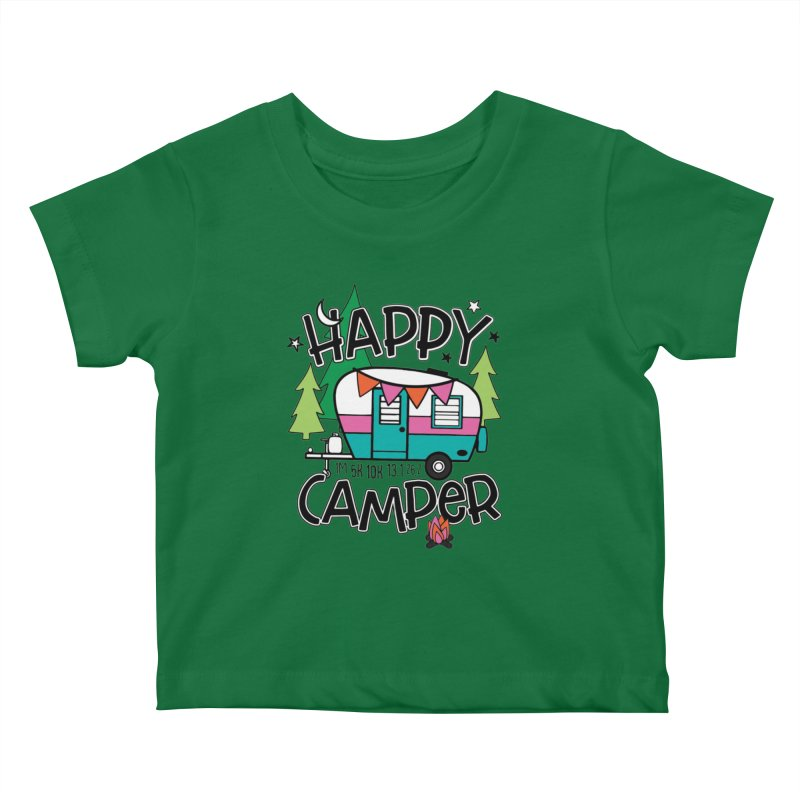 Happy Camper Kids Baby T-Shirt by Moon Joggers's Artist Shop