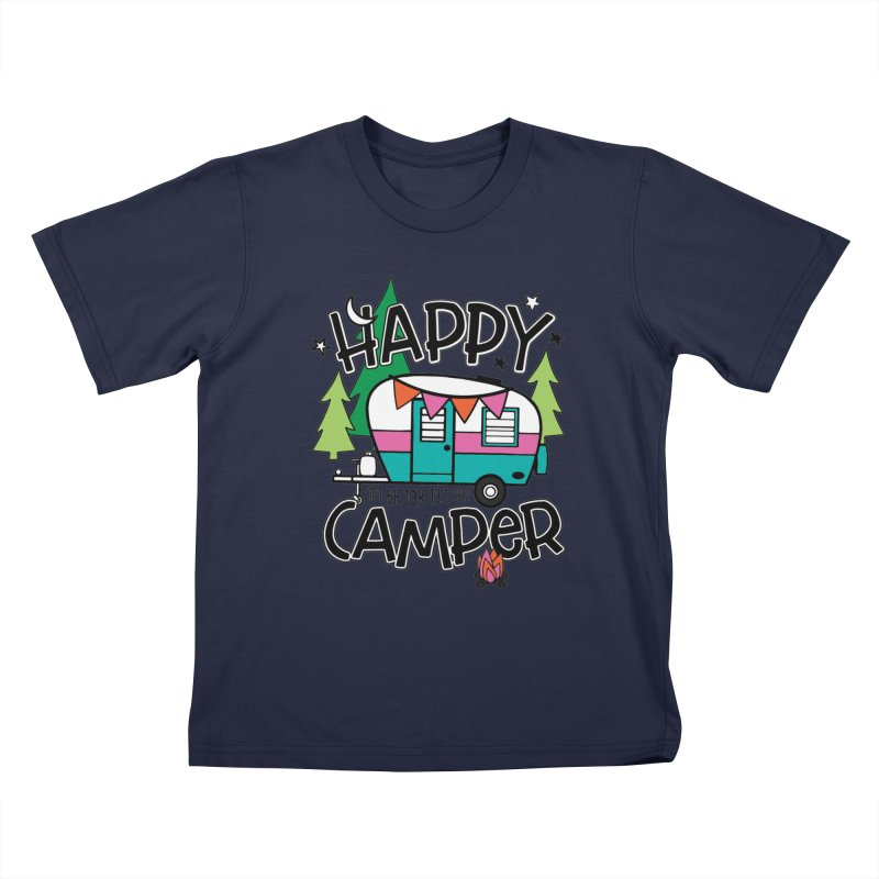 Happy Camper Kids T-Shirt by Moon Joggers's Artist Shop