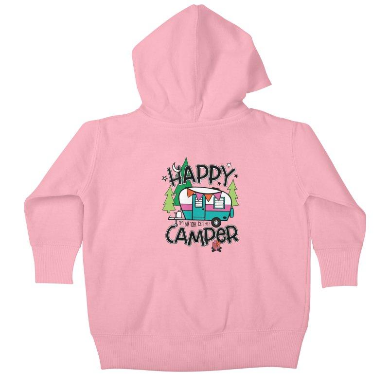 Happy Camper Kids Baby Zip-Up Hoody by Moon Joggers's Artist Shop
