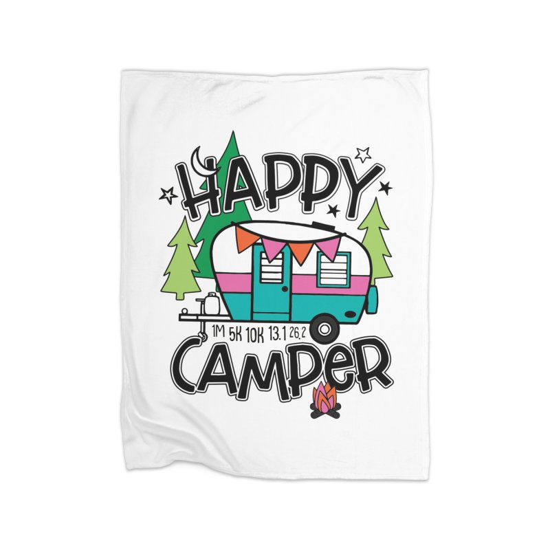 Happy Camper Home Blanket by Moon Joggers's Artist Shop
