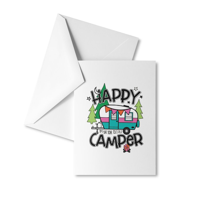 Happy Camper Accessories Greeting Card by Moon Joggers's Artist Shop
