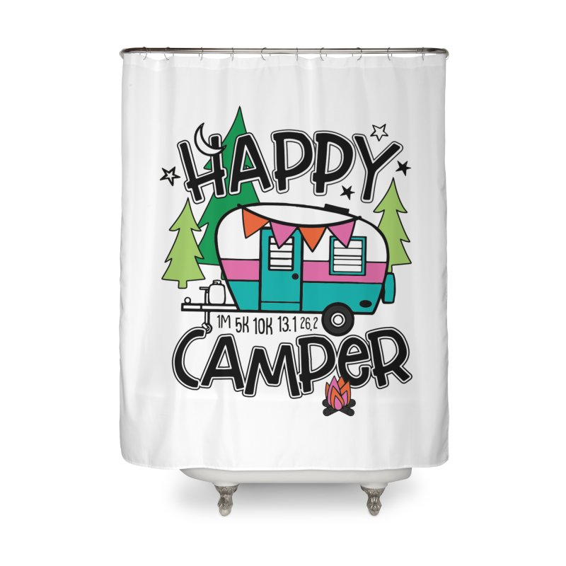 Happy Camper Home Shower Curtain by Moon Joggers's Artist Shop