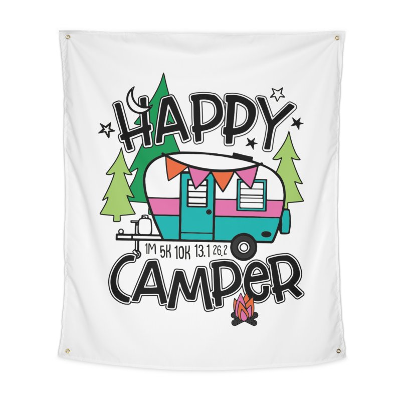 Happy Camper Home Tapestry by Moon Joggers's Artist Shop