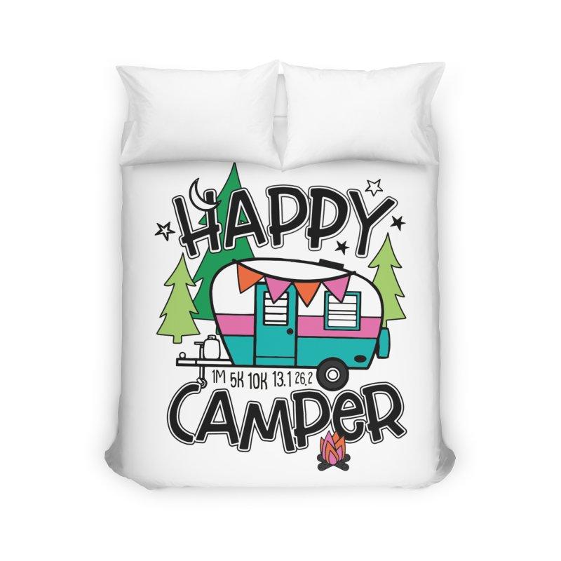 Happy Camper Home Duvet by Moon Joggers's Artist Shop