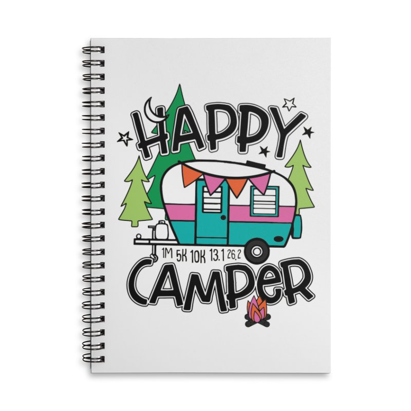 Happy Camper Accessories Notebook by Moon Joggers's Artist Shop