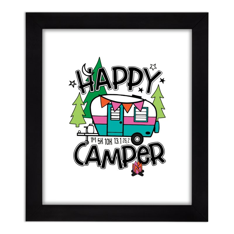 Happy Camper Home Framed Fine Art Print by Moon Joggers's Artist Shop