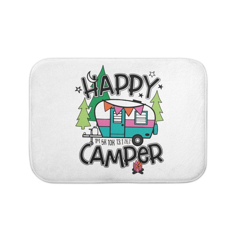 Happy Camper Home Bath Mat by Moon Joggers's Artist Shop