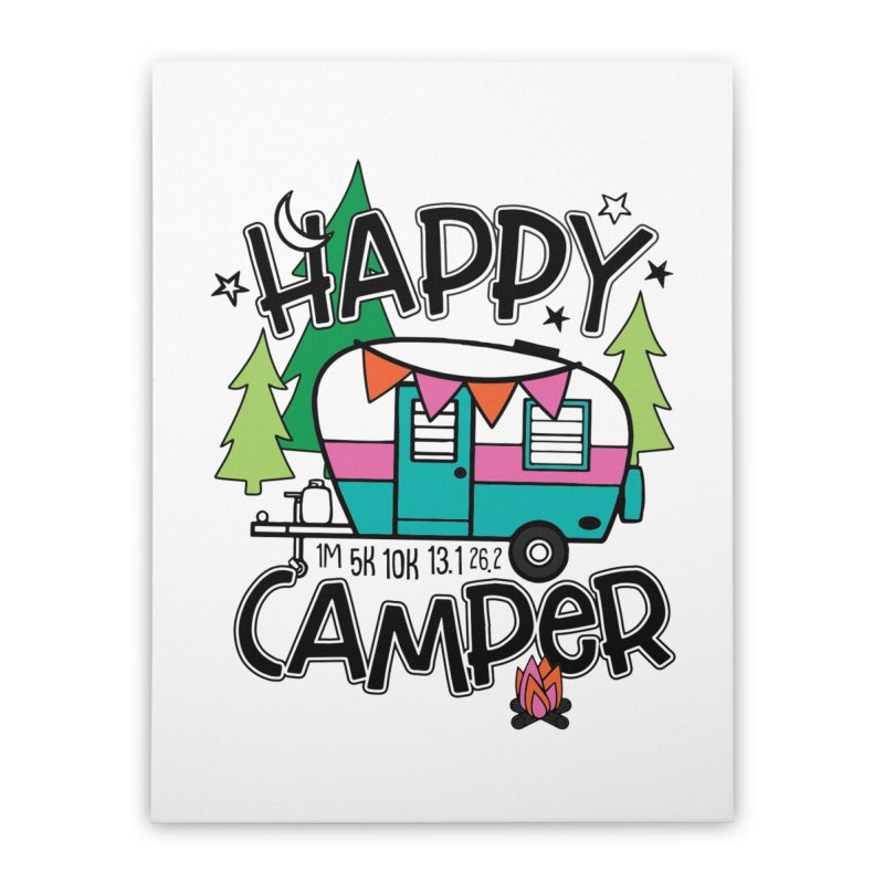 Happy Camper Home Stretched Canvas by Moon Joggers's Artist Shop