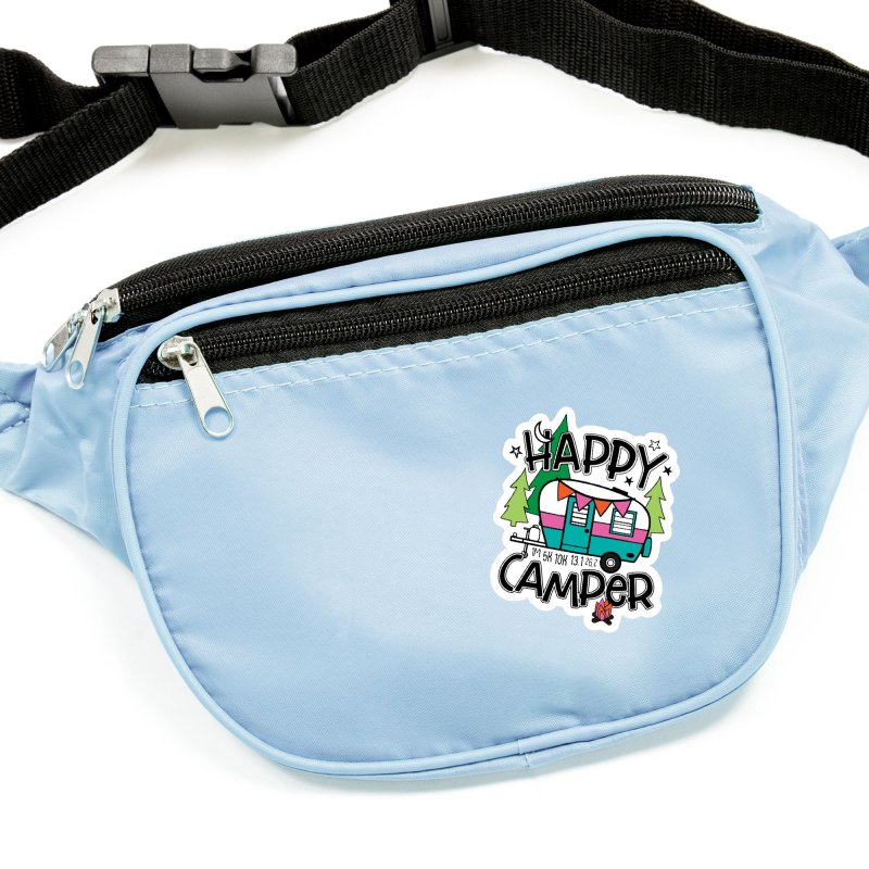 Happy Camper Accessories Sticker by Moon Joggers's Artist Shop