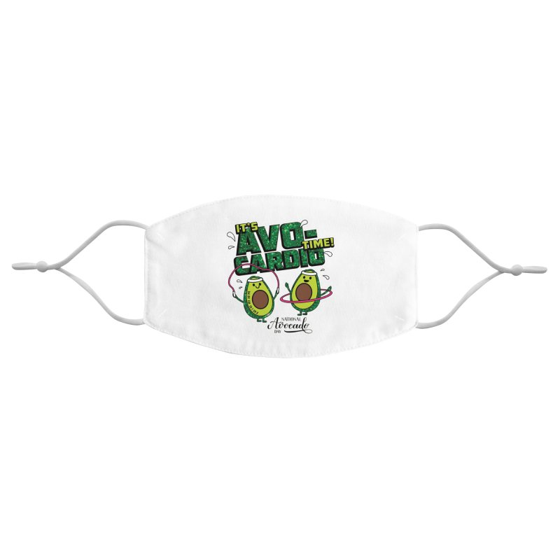 Avocado Day - It's Avo-Cardio Time! Accessories Face Mask by Moon Joggers's Artist Shop