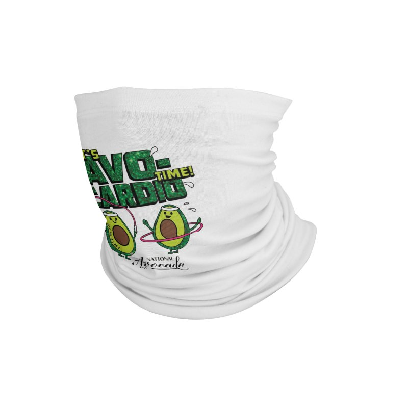 Avocado Day - It's Avo-Cardio Time! Accessories Neck Gaiter by Moon Joggers's Artist Shop