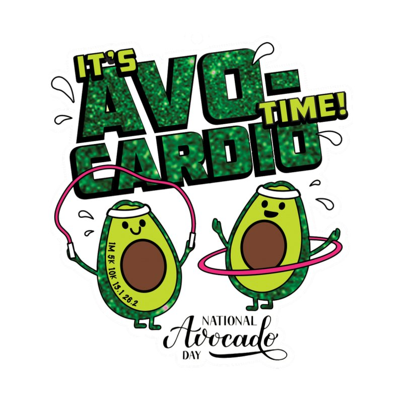 Avocado Day - It's Avo-Cardio Time! Accessories Bag by Moon Joggers's Artist Shop