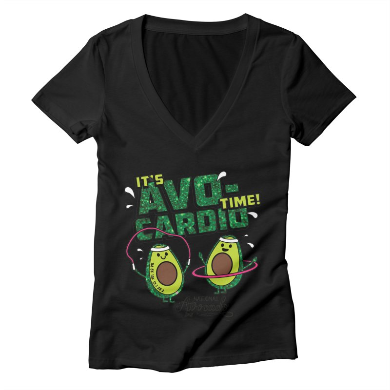 Avocado Day - It's Avo-Cardio Time! Women's V-Neck by Moon Joggers's Artist Shop