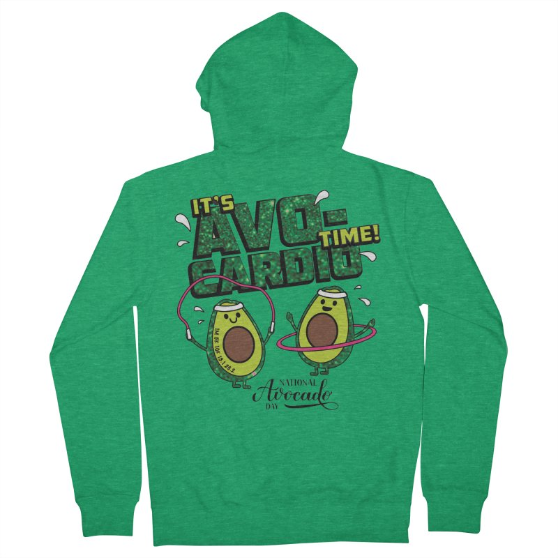 Avocado Day - It's Avo-Cardio Time! Men's Zip-Up Hoody by Moon Joggers's Artist Shop