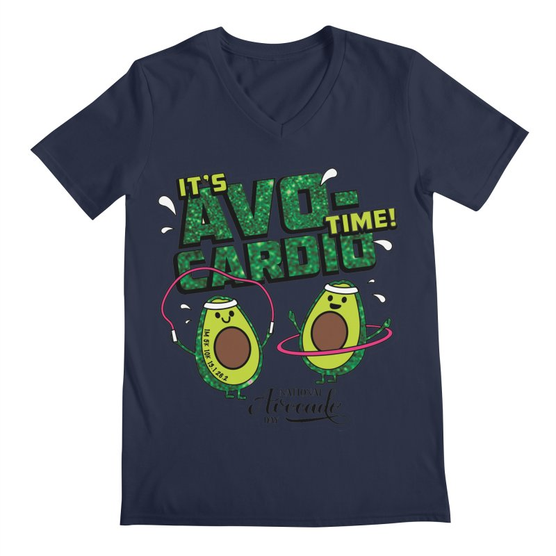 Avocado Day - It's Avo-Cardio Time! Men's V-Neck by Moon Joggers's Artist Shop