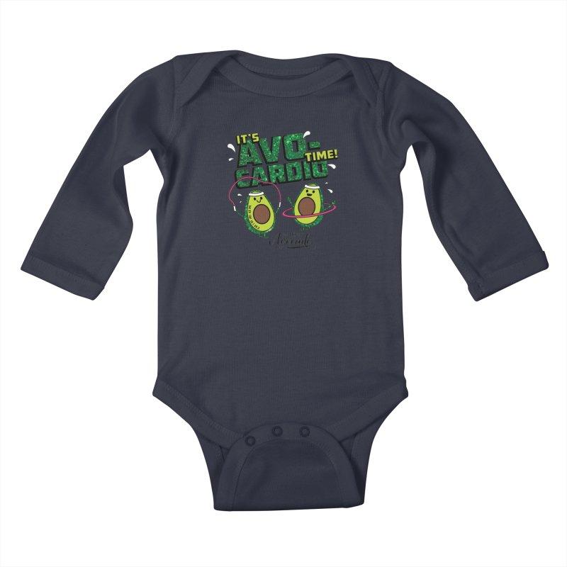 Avocado Day - It's Avo-Cardio Time! Kids Baby Longsleeve Bodysuit by Moon Joggers's Artist Shop