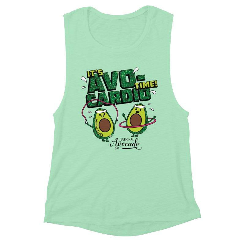 Avocado Day - It's Avo-Cardio Time! Women's Tank by Moon Joggers's Artist Shop