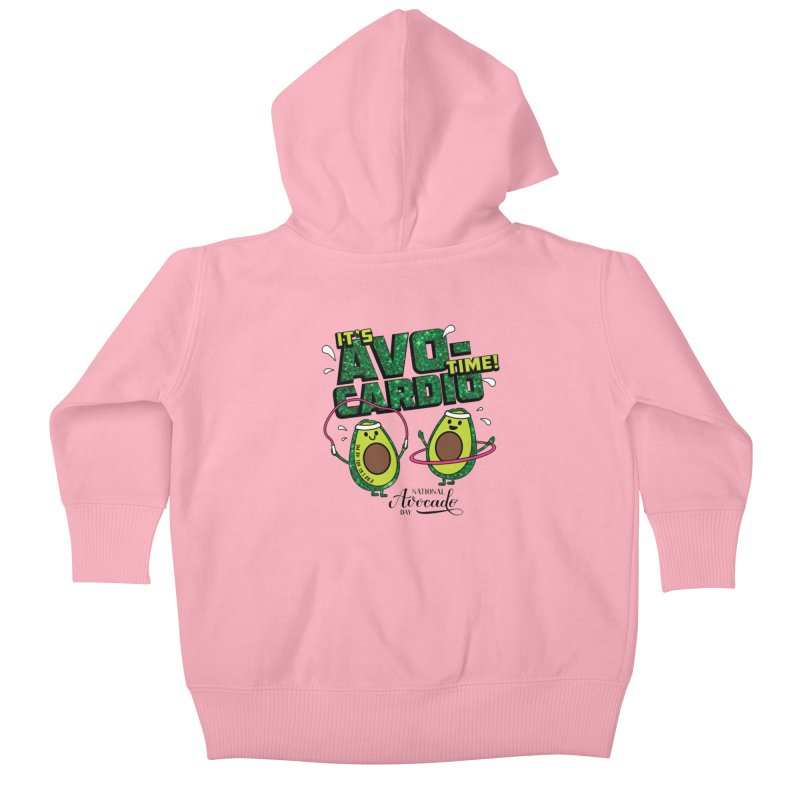 Avocado Day - It's Avo-Cardio Time! Kids Baby Zip-Up Hoody by Moon Joggers's Artist Shop