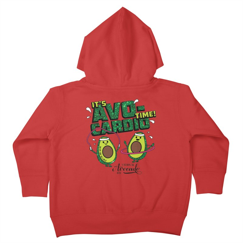 Avocado Day - It's Avo-Cardio Time! Kids Toddler Zip-Up Hoody by Moon Joggers's Artist Shop