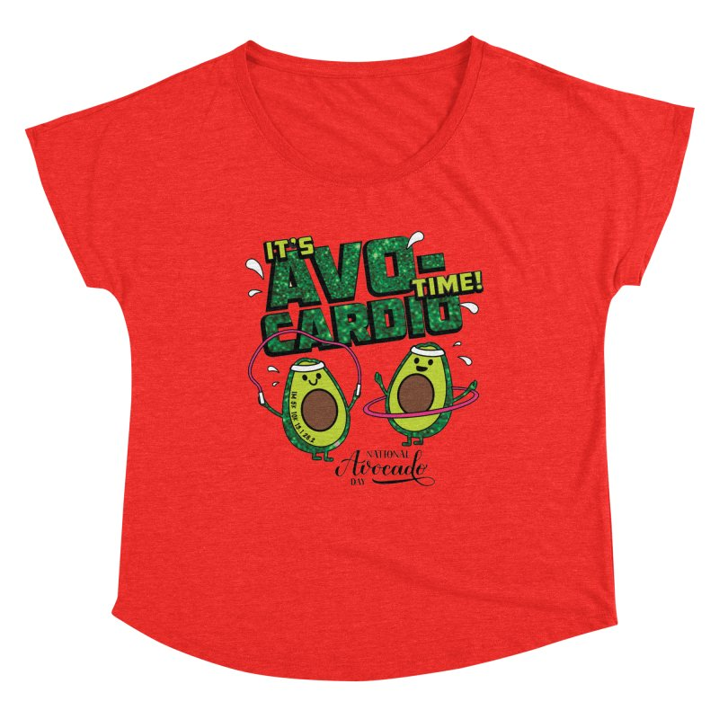 Avocado Day - It's Avo-Cardio Time! Women's Scoop Neck by Moon Joggers's Artist Shop