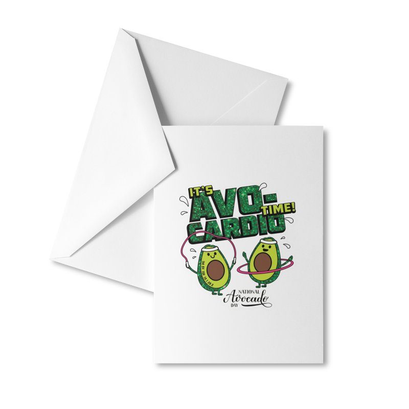 Avocado Day - It's Avo-Cardio Time! Accessories Greeting Card by Moon Joggers's Artist Shop