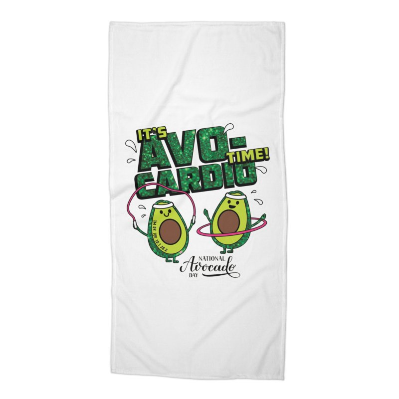 Avocado Day - It's Avo-Cardio Time! Accessories Beach Towel by Moon Joggers's Artist Shop