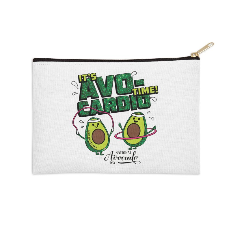 Avocado Day - It's Avo-Cardio Time! Accessories Zip Pouch by Moon Joggers's Artist Shop