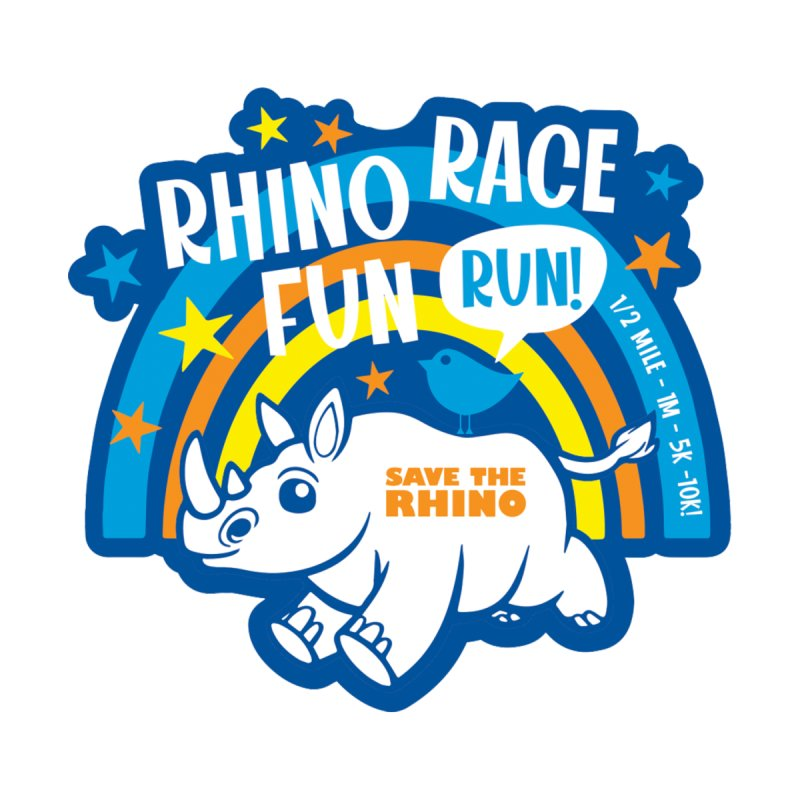 RHINO RACE FUN RUN Accessories Face Mask by Moon Joggers's Artist Shop