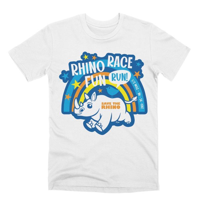 RHINO RACE FUN RUN Men's T-Shirt by Moon Joggers's Artist Shop