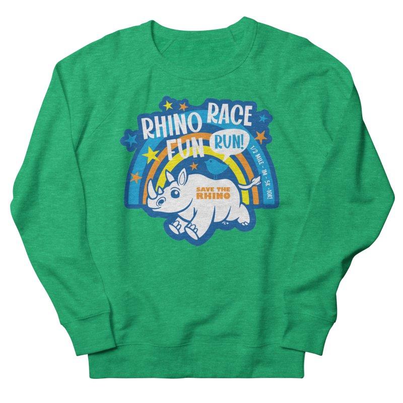 RHINO RACE FUN RUN Women's Sweatshirt by Moon Joggers's Artist Shop