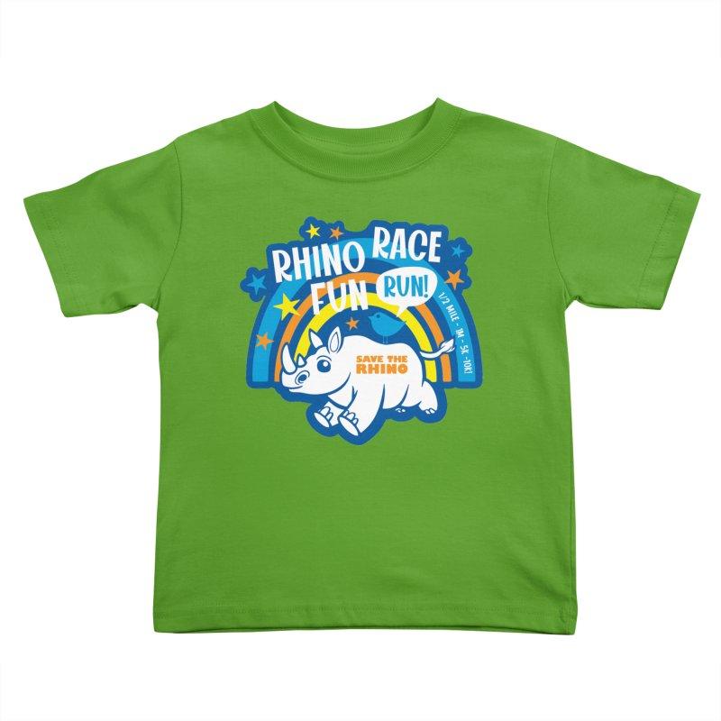 RHINO RACE FUN RUN Kids Toddler T-Shirt by Moon Joggers's Artist Shop