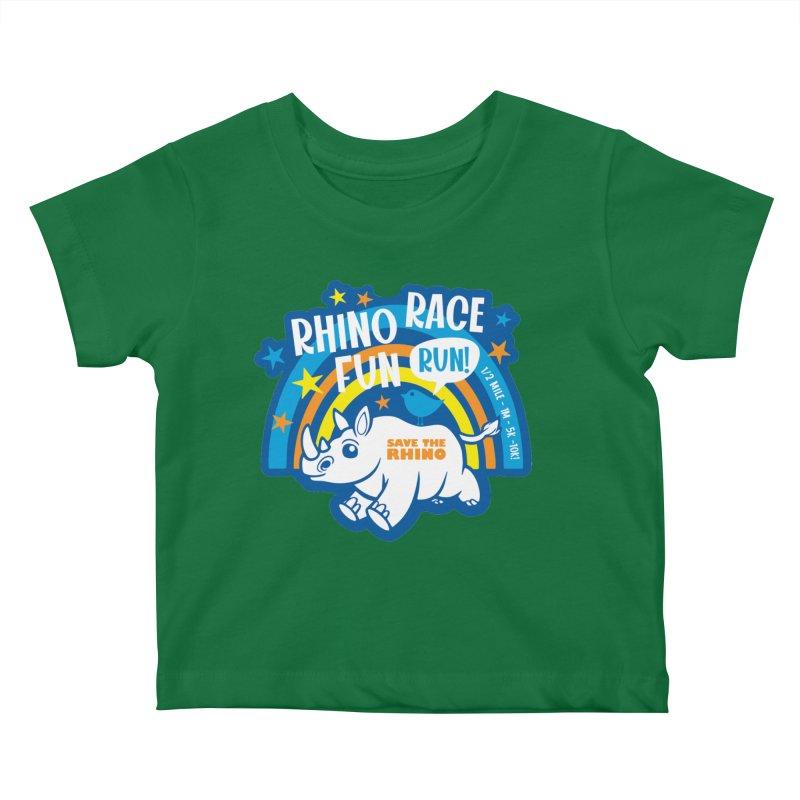 RHINO RACE FUN RUN Kids Baby T-Shirt by Moon Joggers's Artist Shop