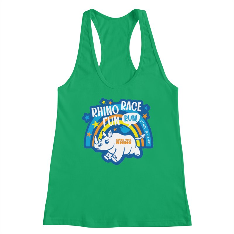 RHINO RACE FUN RUN Women's Tank by Moon Joggers's Artist Shop