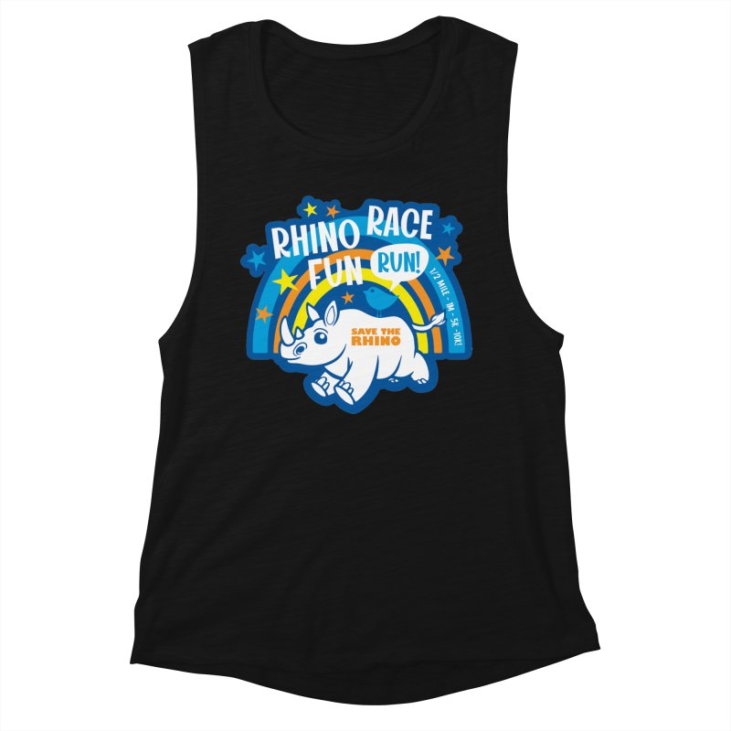 RHINO RACE FUN RUN Women's Tank by Moon Joggers's Artist Shop
